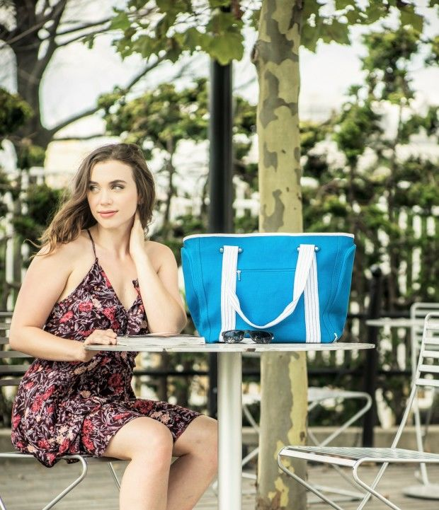 Device-Charging Beach Totes