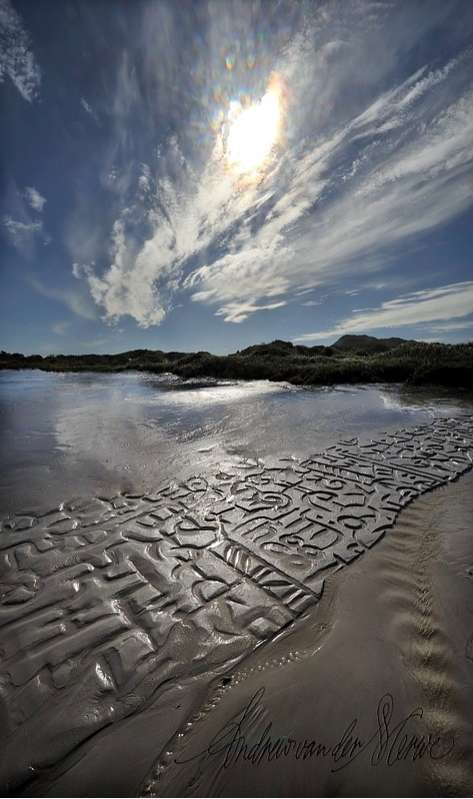 African Beach Calligraphy