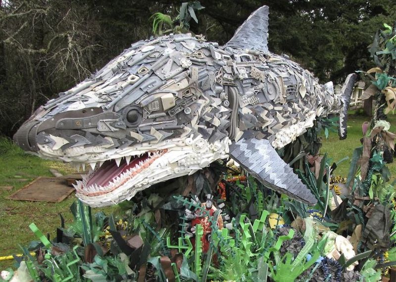Beach Waste Sculptures