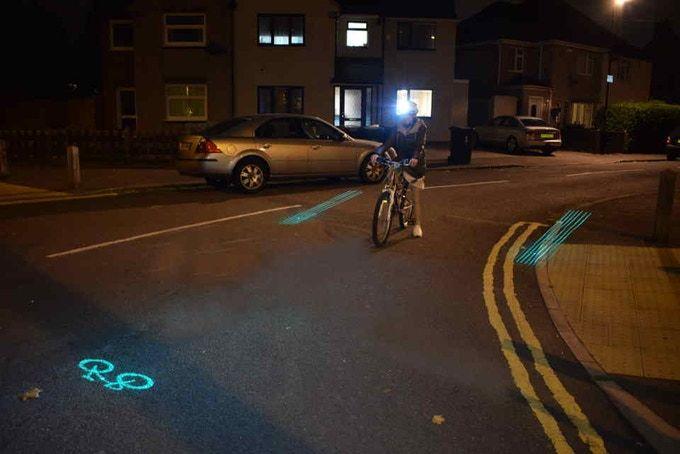 Laser Illumination Cycling Helmets