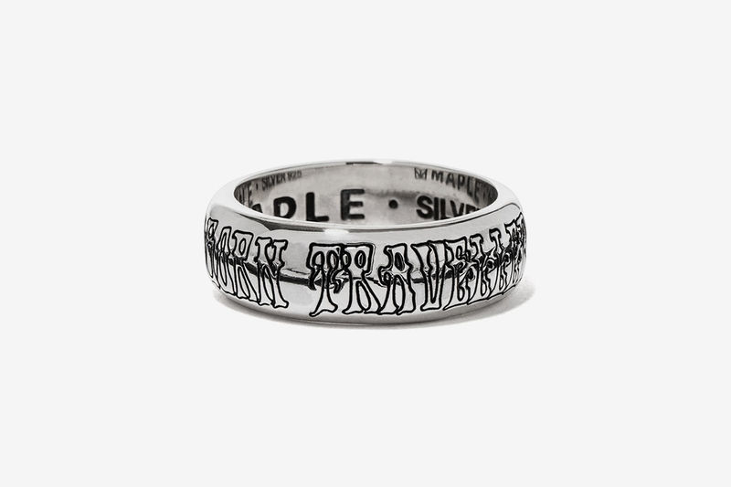 Slogan-Engraved Silver Jewelry