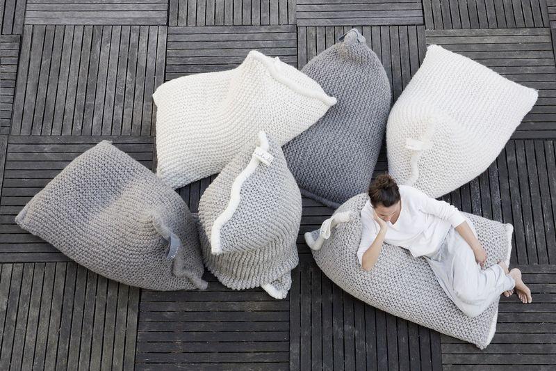 Relaxed Woollen Bag Seats