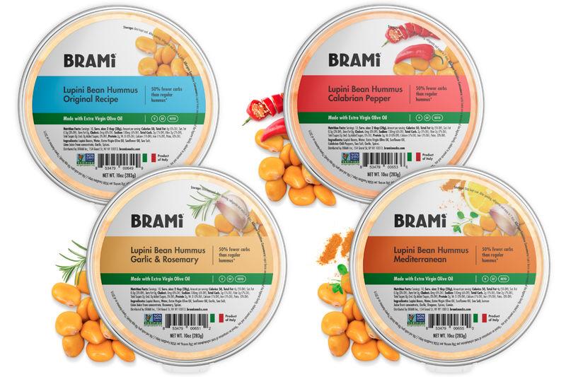 Lupini Bean Hummus Snacks