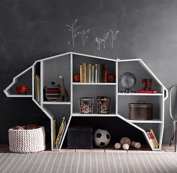 Wildlife-Inspired Shelving