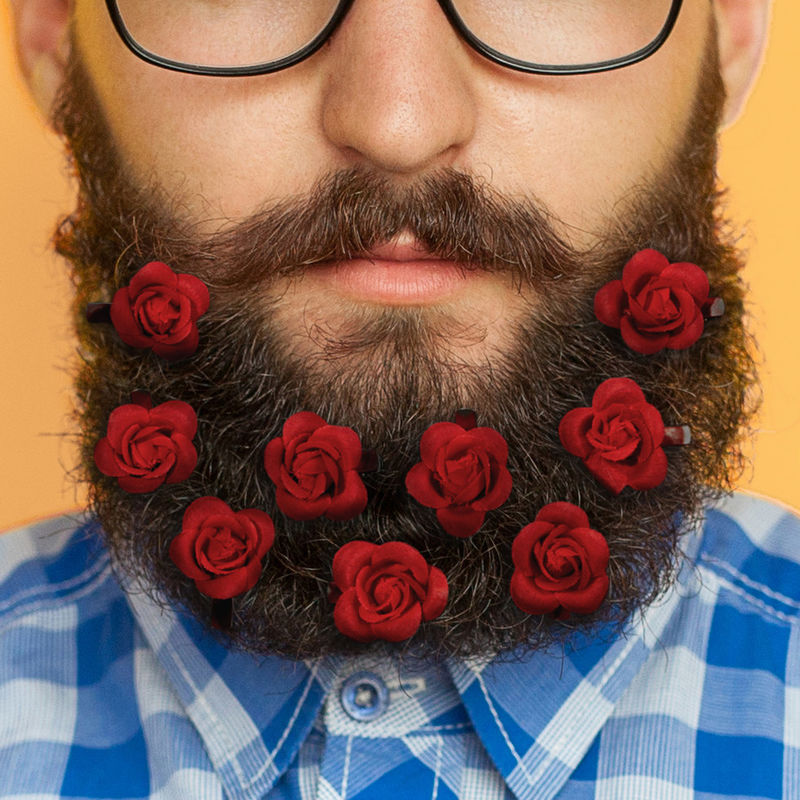 Floral Beard Accessories