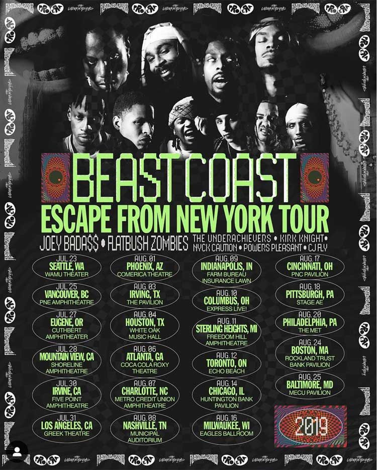 Charitable Hip Hop Tours Beast Coast