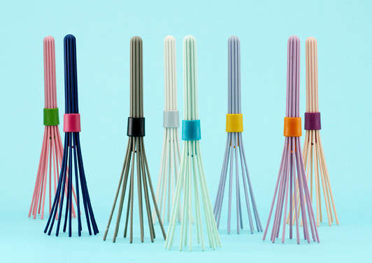 Vibrant Rubber Kitchen Whisks