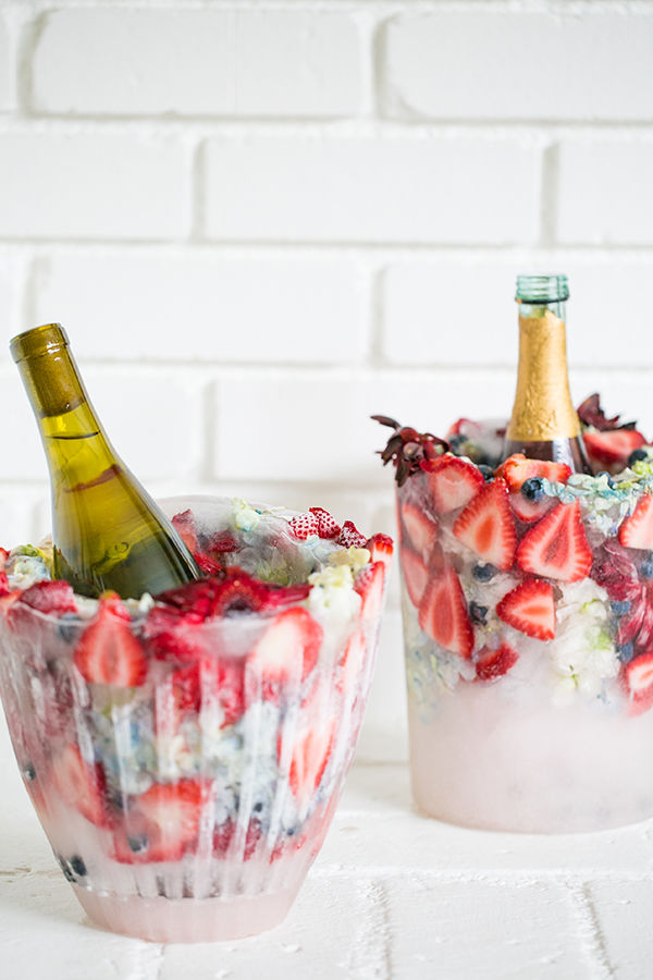 DIY Floral Ice Buckets