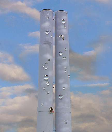 Trompe-L'oeil Chimney Stacks