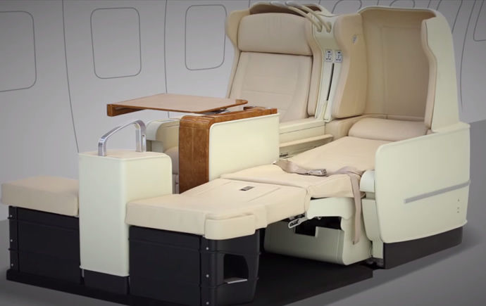 Bed-Like Airline Seats