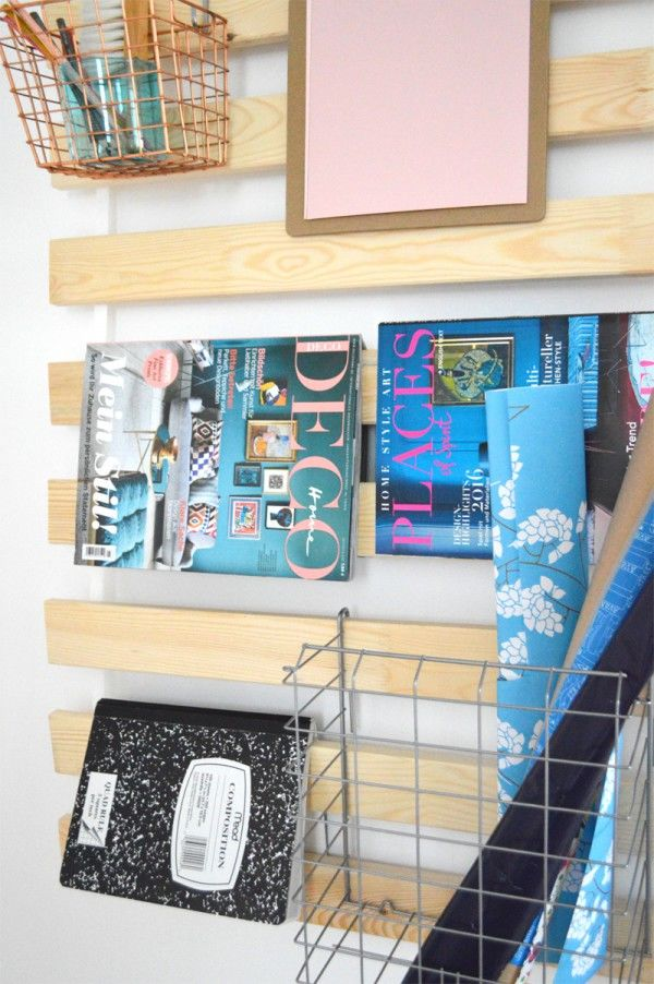 Repurposed Slat Shelving