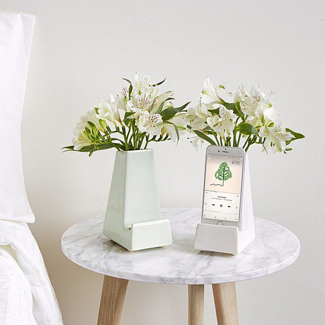 Integrated Smartphone Stand Vases