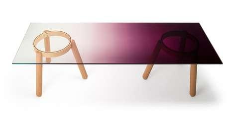 Gradient Glass Furniture