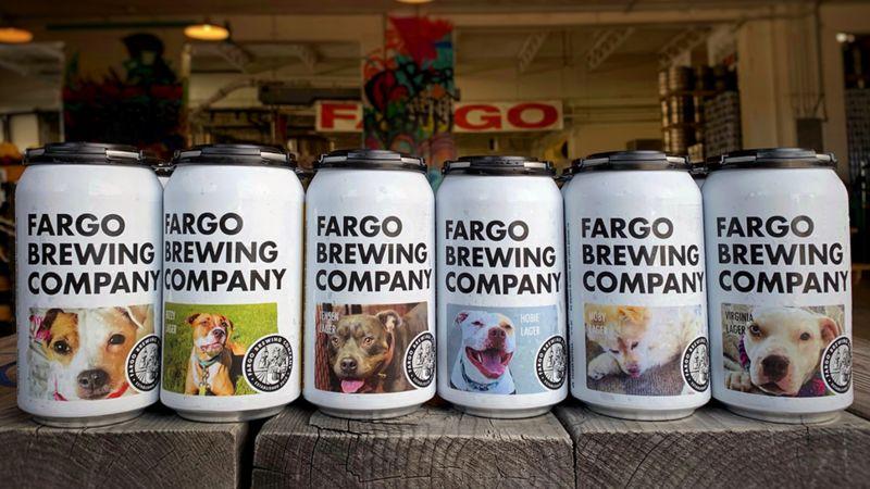 Dog Adoption Beer Cans