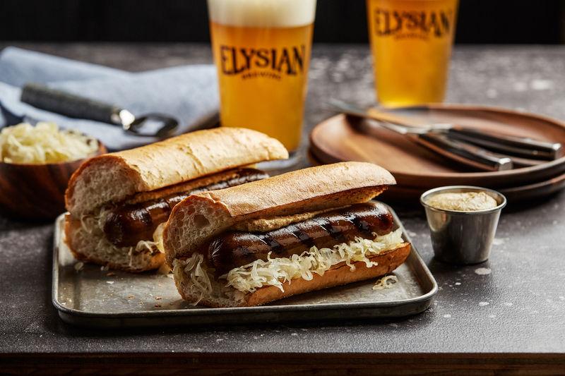 Veggie Alternatives At Brat Fest >> Beer Infused Vegetarian Sausages Beer Infused Bratwurst