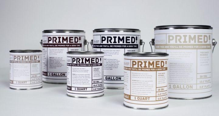 Paint Can Beer Branding