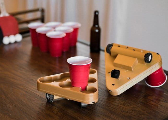 Motorized Drinking Game Robots