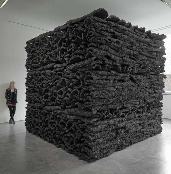 Monumental Black Layered Blocks