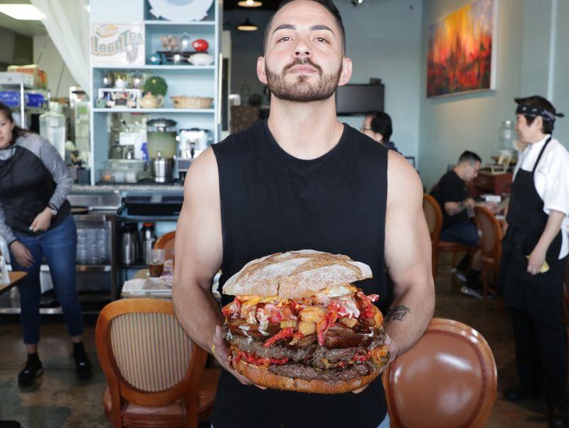 Behemoth 15 Pound Burger Belly Of The Beast Burger