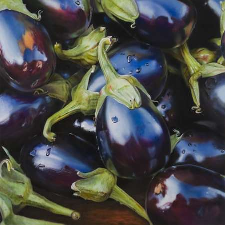Hyperreal Fruit Paintings