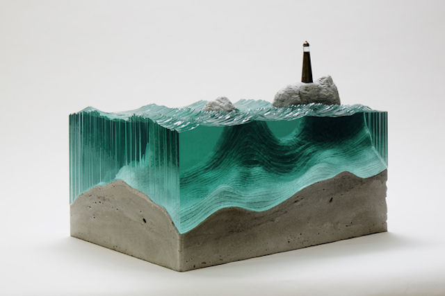 Watery Glass Sculptures