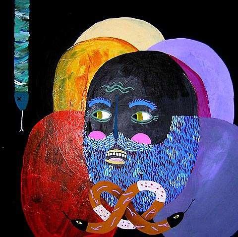 Psychedelic Head Art
