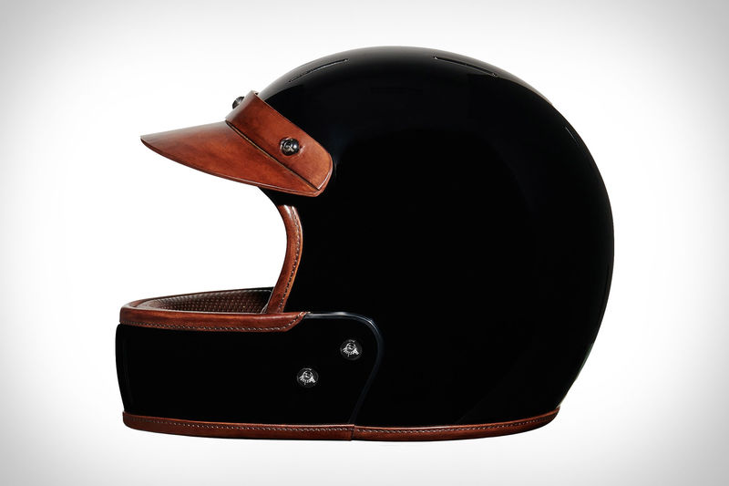 Lux Italian Leather Helmets