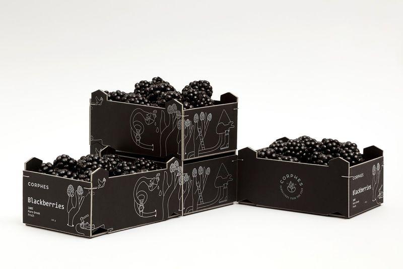 Achromatic Blackberry Packaging