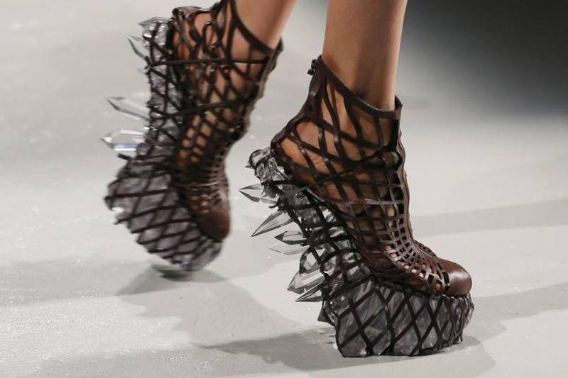 Crystalline 3D-Printed Shoes