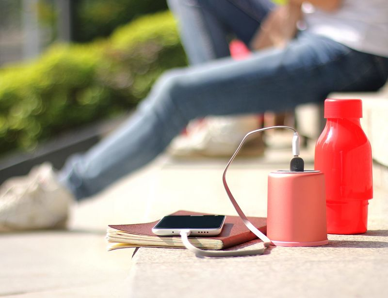 Phone-Charging Beverage Bottles