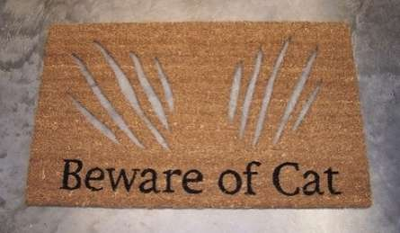 Clawed Welcome Rugs : cat doormat - pezcame.com