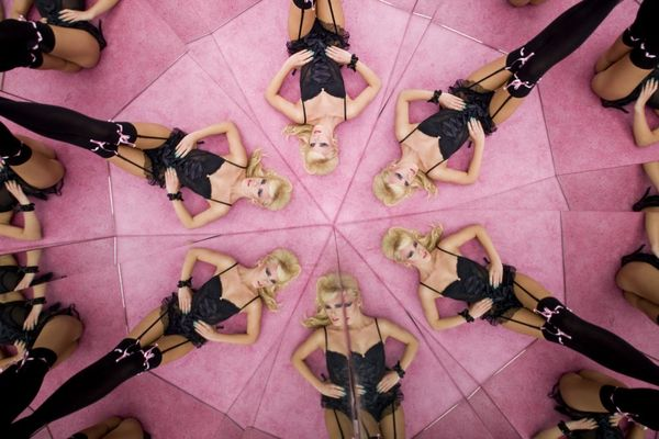 Kaleidoscopic Lingerie Editorials