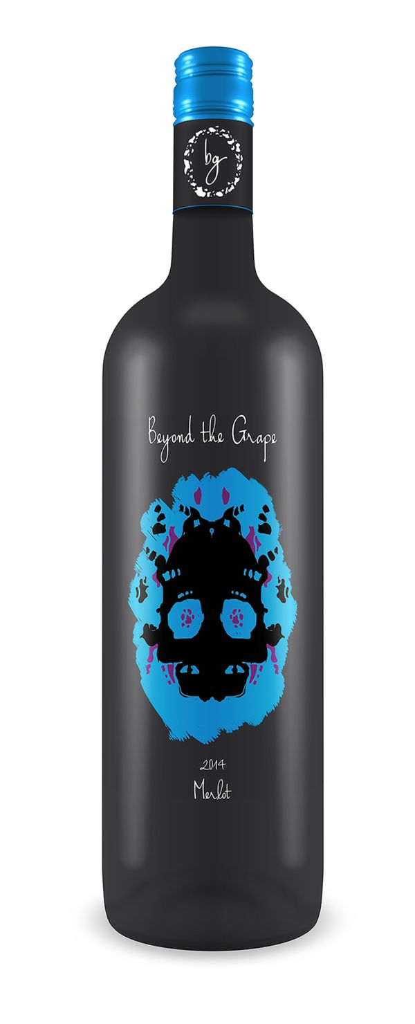Inkblot Skull Wine Packaging
