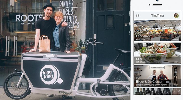 Crowdsourced Bicycle Couriers