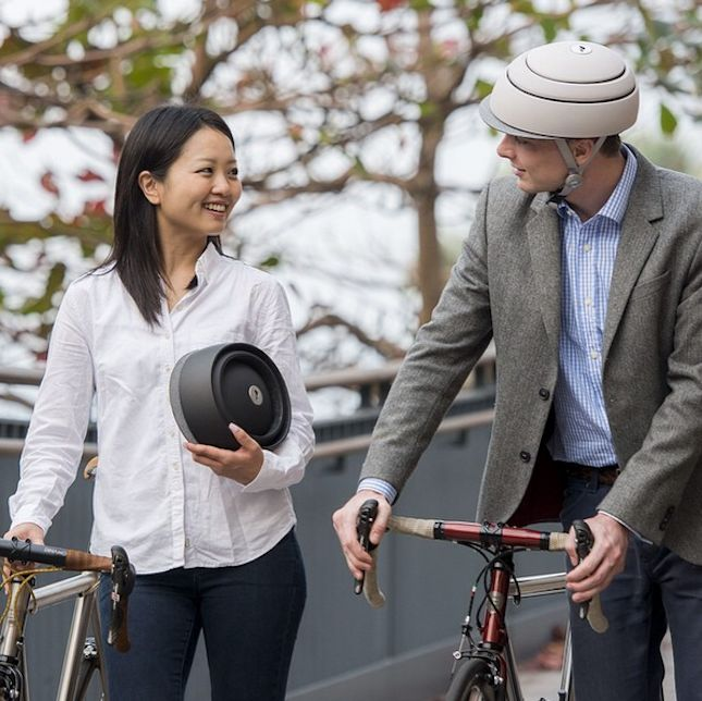 Collapsable Biking Helmets