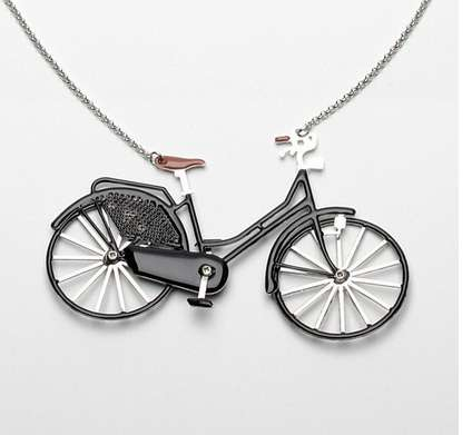 Ornate Bicycle Necklaces