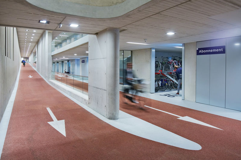 Massive Indoor Bicycle Parks