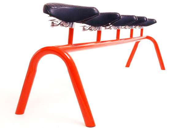 Bicycle Seat Benches -  Sebastian Errazuriz Creates Funky Furniture for Fitness Freaks