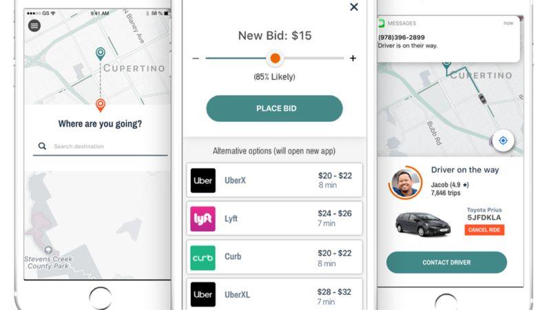 Bid-Based Ride Sharing Apps