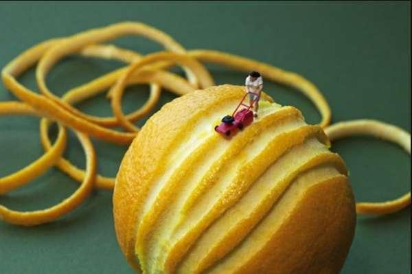 Microscopic Food Sculptures (UPDATE)