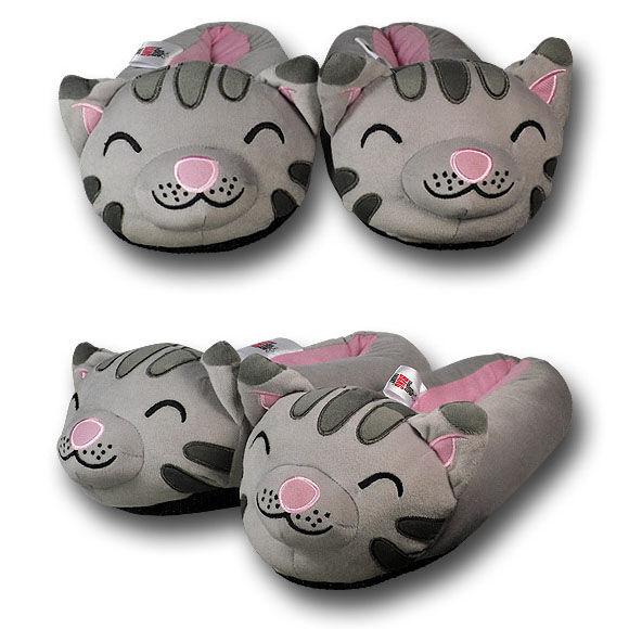 Geeky Kitty Slip-ons