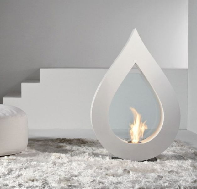 Poetically Modern Fireplaces