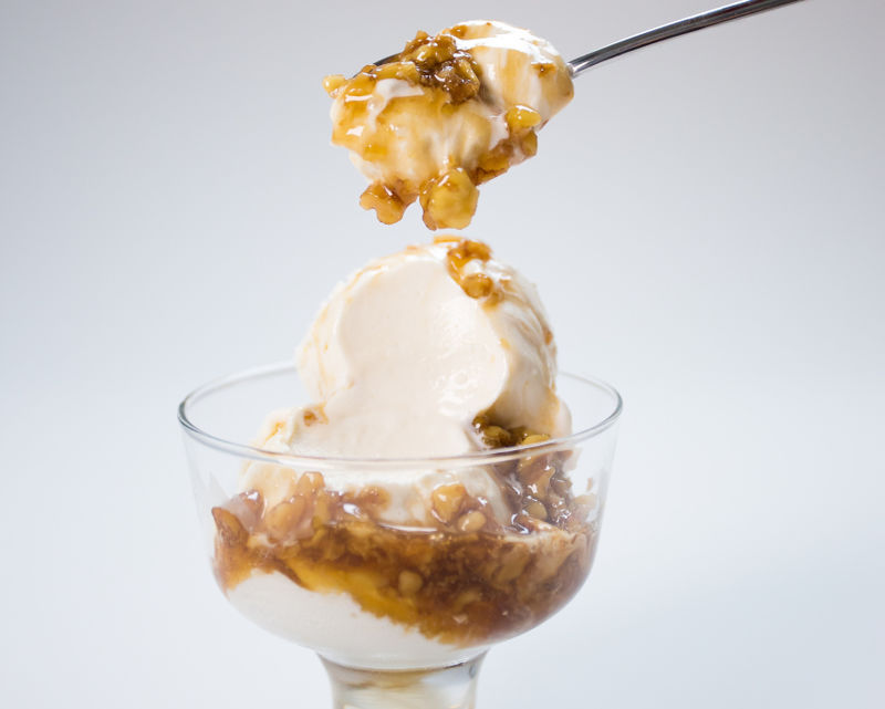 Boozy Walnut Sundaes
