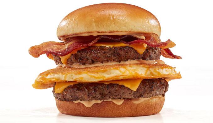Pancake-Topped Beef Burgers