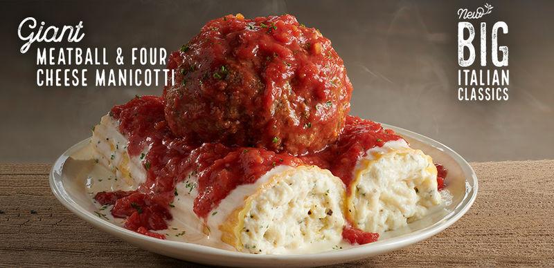 Pizza Olive Garden Menu: Oversized Pasta Menus : Big Italian Classics