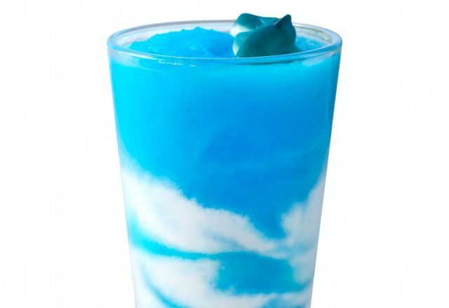 Blue Raspberry Soda Slushies