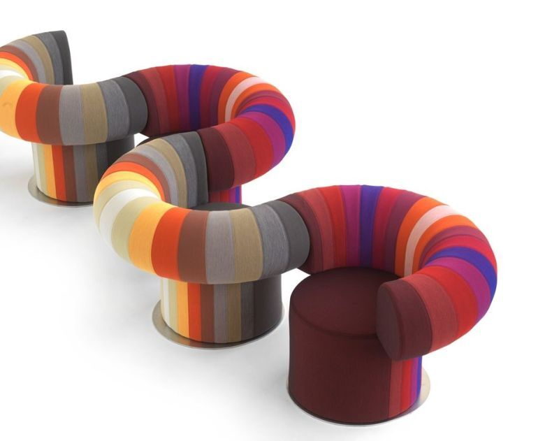 Interconnecting Knit Lounge Chairs