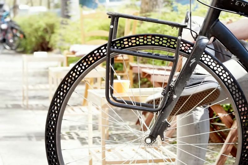 Airless 3D-Printed Bike Tires