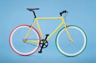 DIY Rainbow Bicycles