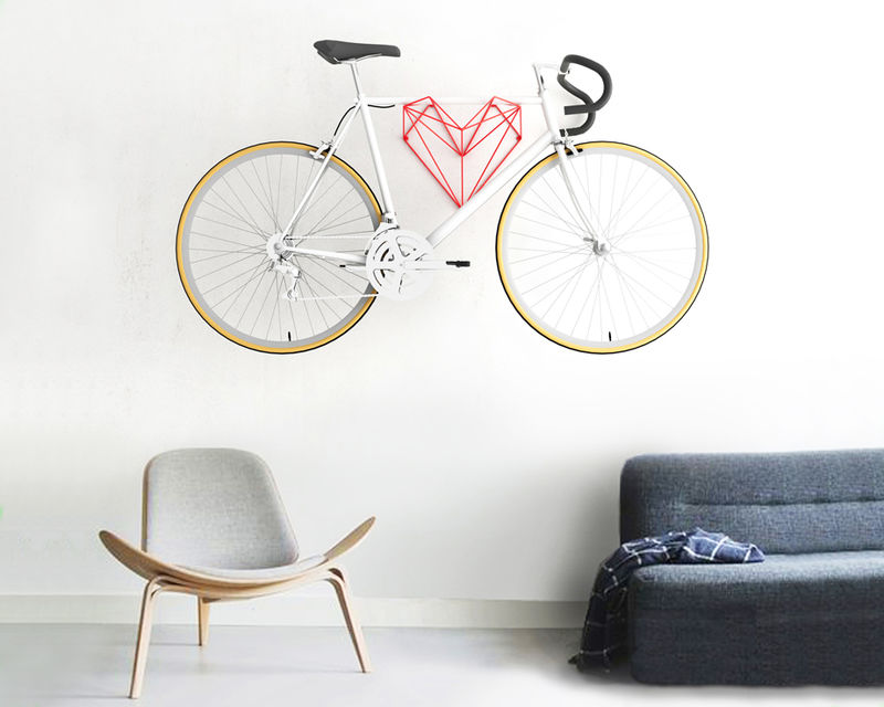 Heart-Shaped Bike Holders